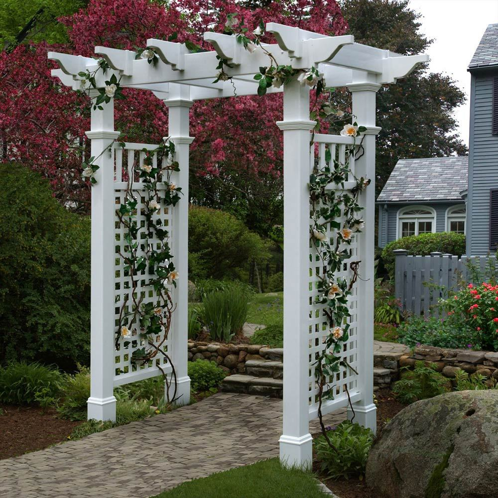 Arbor Homes: PVC Arbours Pergolas And Garden Products