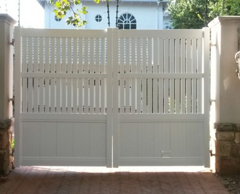 Custom PVC Driveway Gates And Doors