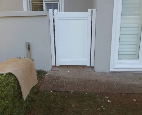 PVC Courtyard Door