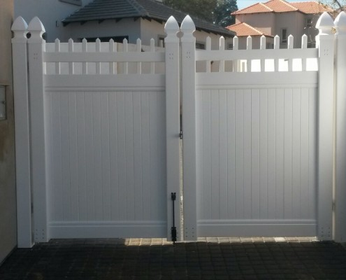Semi-Private PVC Swing Gates