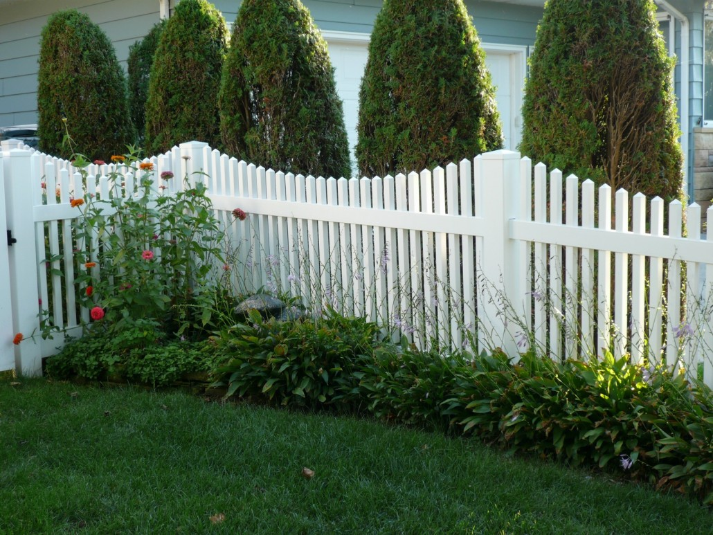 Pvc white picket fence by enduratech